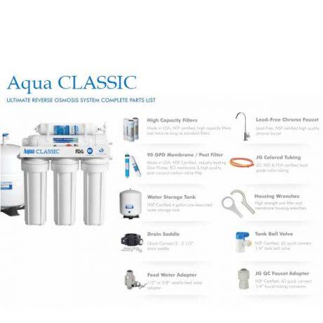 دستگاه تصفیه آب ۶ فیلتر اسمز معکوس Aqua Classic